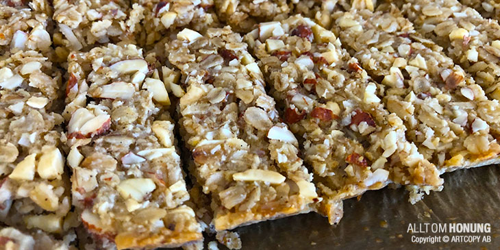 Energibars / proteinbars med honung
